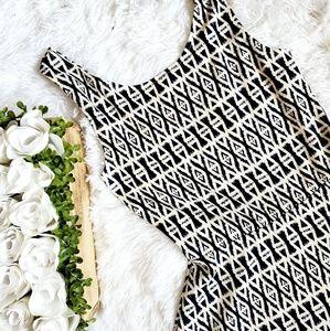 H&M Printed Skater Skirt